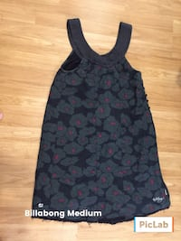 Medium black and gray floral sleeveless top