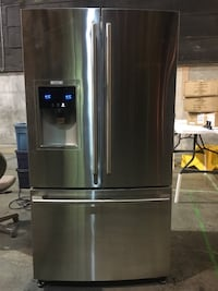 Stainless steel french door refrigerator North Vancouver, V7J