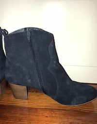 STEVE MADDEN, NAVY BOOTIES, SIZE 10W Washington