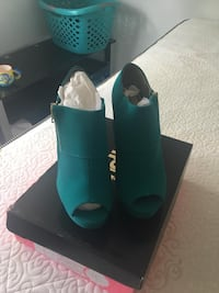 pair of teal leather boots Manassas, 20110