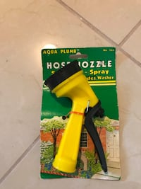 Black and yellow hose extension