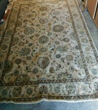 brown and white floral area rug Tulsa, 74145