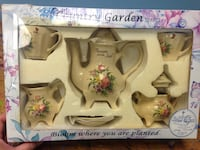 country garden teaset bloom where you area planted set