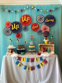 Baby shower hot air balloon backdrop Miami, 33155