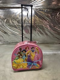 pink and blue Disney Princess themed backpack Herndon, 20170