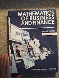 Mathematics of business and finance London, N6H 4W1