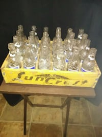 Old wooden SunCrest soda box with bottles Thibodaux, 70301