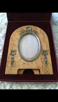 brown wooden framed wall mirror Toronto, M6S 1N8