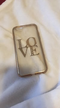 brown and white iPhone case