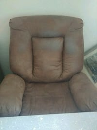 brown suede padded recliner chair  Highland, 92346