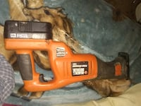 orange and black Black & Decker corded power tool null