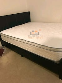 Brand New Full Size Leather Platform Bed +Mattress Silver Spring, 20910