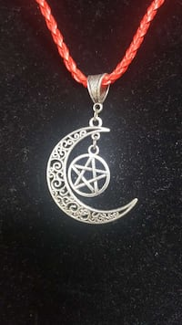 silver moon and star pendant