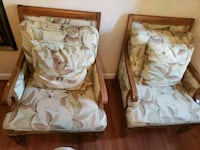 2 oversized green brown & white florals chair set Bowie, 20721
