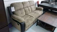 Brand new fabric 3pc recliner set on sale
