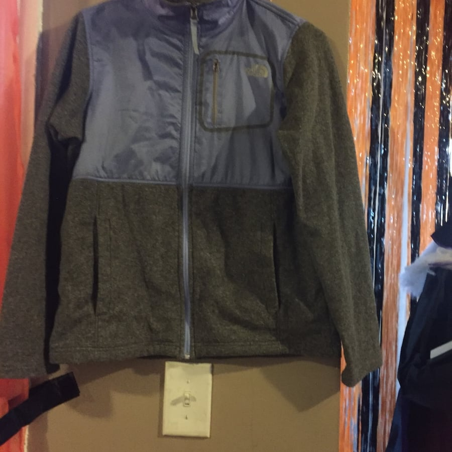 Black and blue the north face full-zip jacket