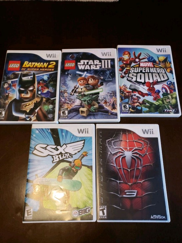 Xbox One and Wii games