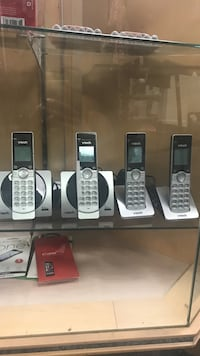 four gray and black VTech wireless telephones Louisville, 40212