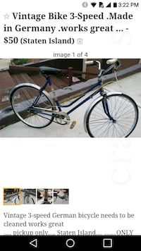 Vintage Bike 3-Speed .Made in Germany .works great Staten Island, 10312