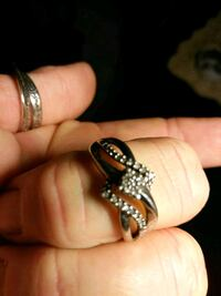 Diamond and sterling silver size 7