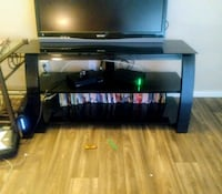 All blacl glass TV stand Las Vegas, 89145