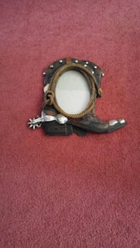 Cowboy boot picture frame