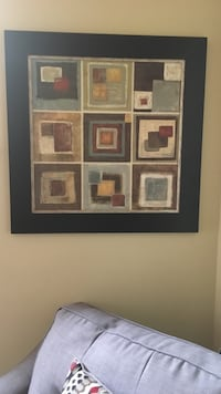 MODERN GEOMETRIC TEXTURED FRAMED PAINTING Mount Airy, 21771