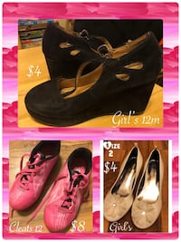 pair of black suede wedge shoes Bowling Green, 42104