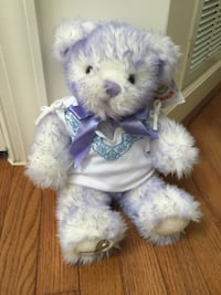 Purple & white Build-a-Bear 13 mi