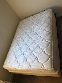 Free full size mattress, box spring and bed frame from moving sale