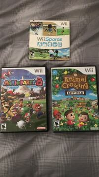 3 assorted nintendo wii game lot