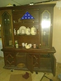 brown wooden cabinet with hutch Walhalla, 29691