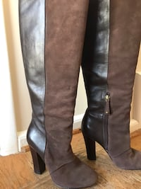 Chocolate Brown Suede Boots Arlington, 22205