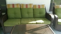 green and white fabric 3-seat sofa Spring Hill, 34609