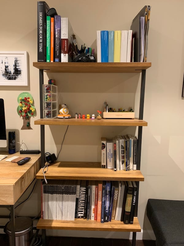 Sold Cb2 Helix 70 Acacia Bookcase In
