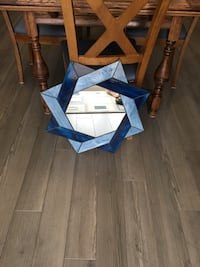 Handmade mirror with blue stained glass Lucan Biddulph, N0M 2J0