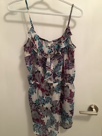 women's multicolored floral spaghetti strap top Toronto, M5J 3B2