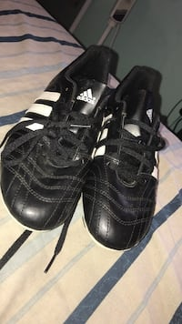 pair of black-and-white Adidas sneakers $50 obo