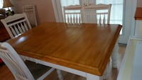rectangular brown wooden kitchen table with 6 chai Wellington, 33414