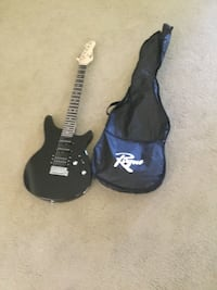 Black electric guitar with gig bag. One year.  New strings. Small ding. Listed at 129.99. Paid 99.99.  Asking60.00. Reasonable offer accepted.   Brookfield, 53045