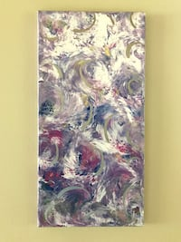 """NEW Abstract Painting with Silver Accents 10""""x20"""" Delta, V4E 2Y2"""