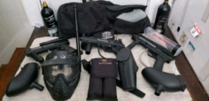 3 paintball and accessories For Sale