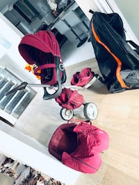 Stoke stroller with all accessories