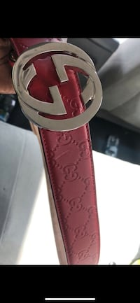 Red Gucci belt only worn once  Silver Spring, 20902