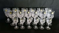 18 Pcs. NEW CRISTAL D'ARQUES BAR GLASSES Bowie, 20715