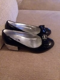 pair of black leather flats Greenville