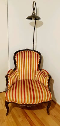 Vintage retro patterned arm chair Reston