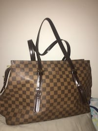 damier ebene Louis Vuitton leather tote bag Kitchener, N2P 0C7