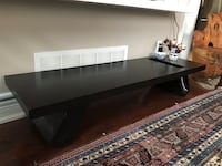 Black/Dark brown wood coffee table