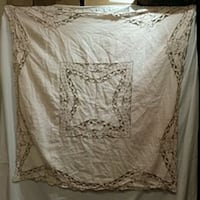 $10 Handmade linen ANTIQUE tablecloth  Hampton Bays Hampton Bays